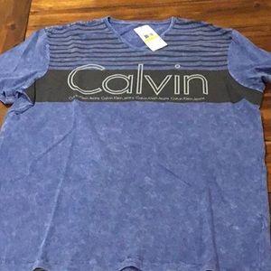Calvin Klein tee shirt, V neck